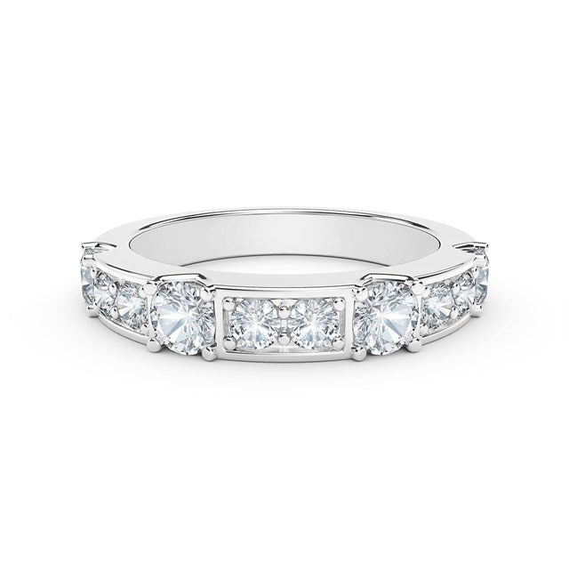18K White Gold Diamond Row Ring