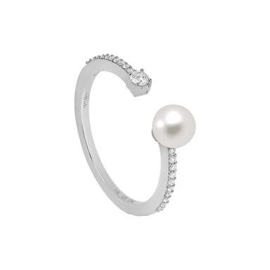 Pearl and Diamond Spectrum Ring