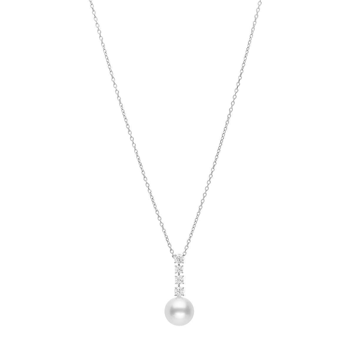 White South Sea Pearl and Diamond Japan Collections Pendant