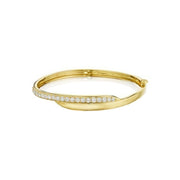 18K Yellow Gold Crescent Bangle