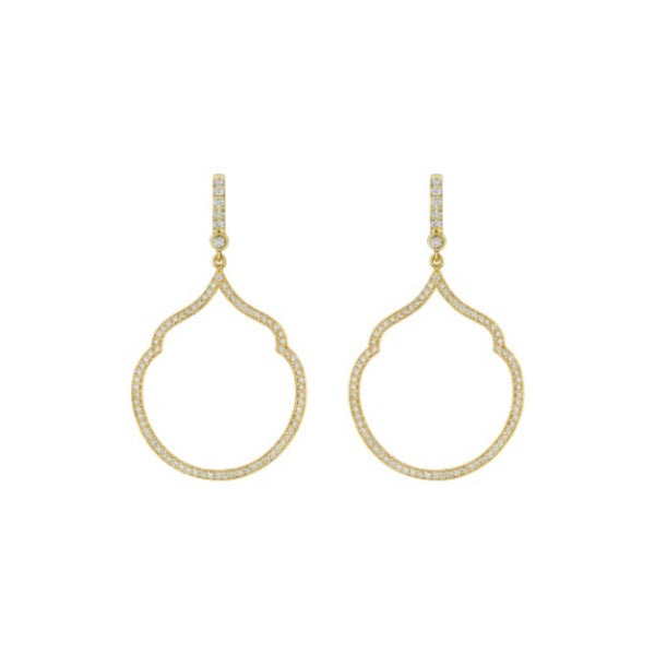 18K Yellow Gold Tear Drop Earrings