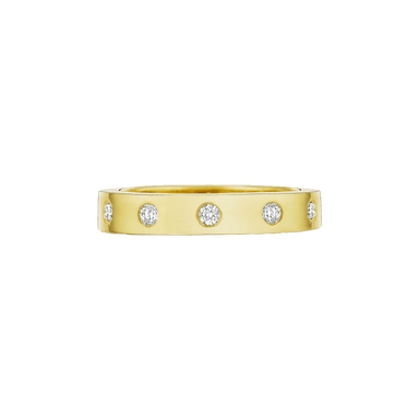 Diamond Round Station Moderne Eternity Band