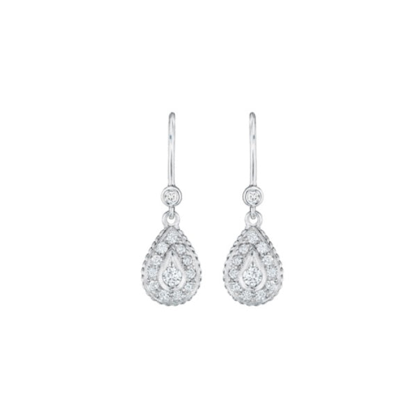 Pave Pear Earrings