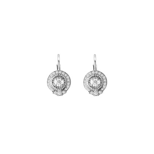 Round Diamond Earrings on French Wire