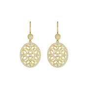 Small Oval Lace Earrings