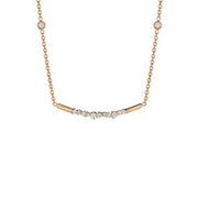 18K Rose Gold Stardust Bar Necklace