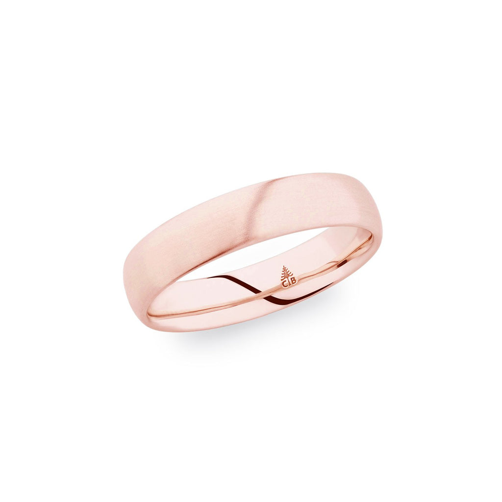 14K Rose Gold 5mm Polished Band