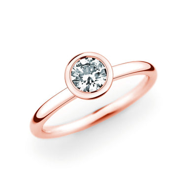 14K Rose Gold Polished Solitiare Setting
