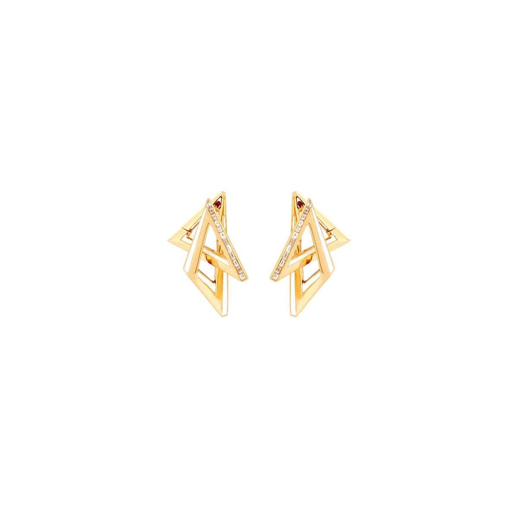 VERTIGO VERTIGO ACUTE HOOPS Yellow Gold