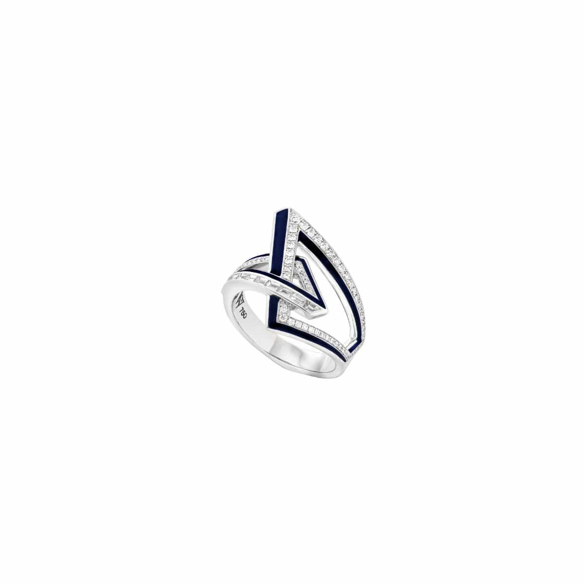 VERTIGO OBTUSE RING White Gold