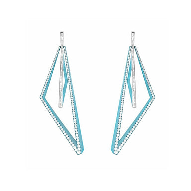 VERTIGO VERY OBTUSE HOOPS - LIGHT BLUE