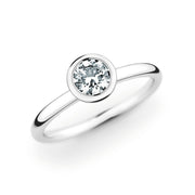 14K White Gold Polished Solitiare Setting