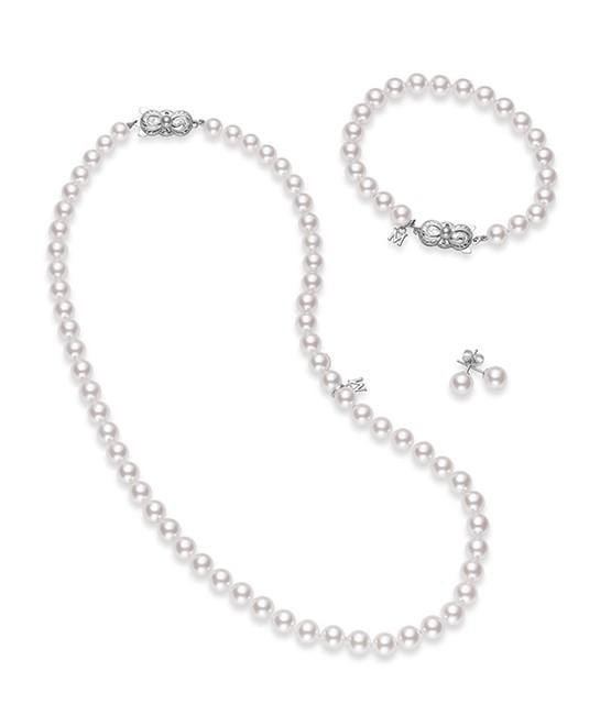 Akoya Cultured Pearl Three Piece Set