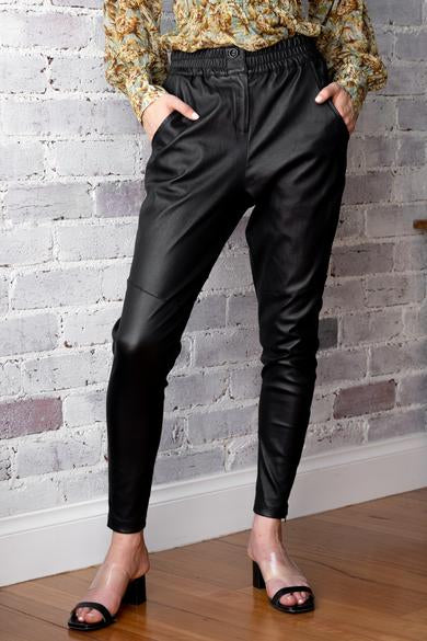 DEA Rundle Leather Pant || BLACK