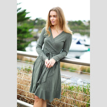 Load image into Gallery viewer, 3RD Story TIZI L/S Wrap Around Dress - 1121