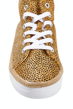 Load image into Gallery viewer, Human Premium BRAYDEN Cheetah Leather Sneakers || TAN
