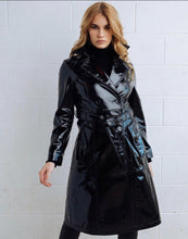 Load image into Gallery viewer, DEA Polly Patent Leather Trench Coat