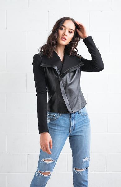 DEA GWYNETH Leather Jacket || BLACK