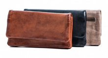 Load image into Gallery viewer, Rugged Hide CALI Soft Leather Ladies Wallet with Press Stud Close RH-7379