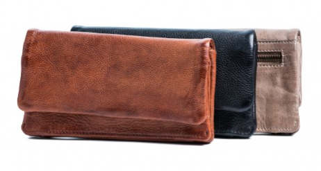 Rugged Hide CALI Soft Leather Ladies Wallet with Press Stud Close RH-7379