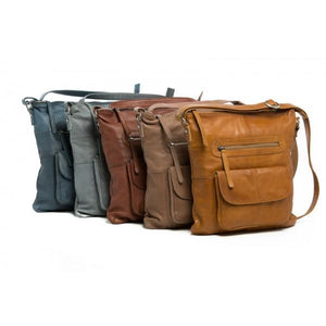 Rugged Hide CAROLINA Soft Leather Crossbody Bag with Adjustable Shoulder Strap RH-11648