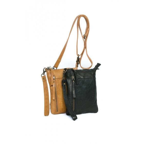 Rugged Hide FRANCES Cute Little Leather Sling Bag that Doubles as a Clutch