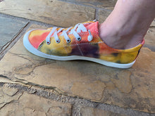 Load image into Gallery viewer, Tie Dye Canvas Sneakers || NAVY/YELLOW/ORANGE