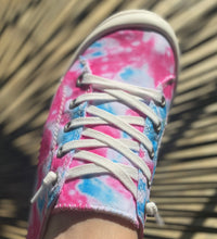 Load image into Gallery viewer, Tie Dye Canvas Sneakers || PINK/BLUE