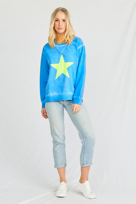 Stardust Crew Space Age Sweat || Summer Blue