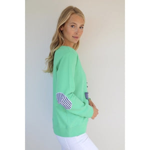 EST 1971 Frayed Anchor Cotton Windy || BRIGHT GREEN/NAVY