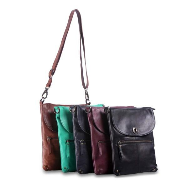 Rugged Hide TAYLA Slim Line Leather Sling Bag RH-8800