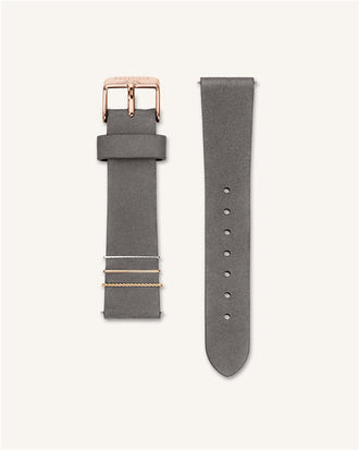 Elephant Grey Rose gold Strap