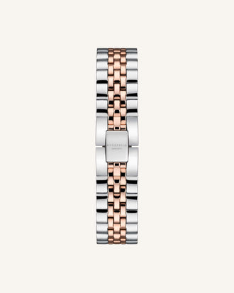 Silver Rose gold Strap