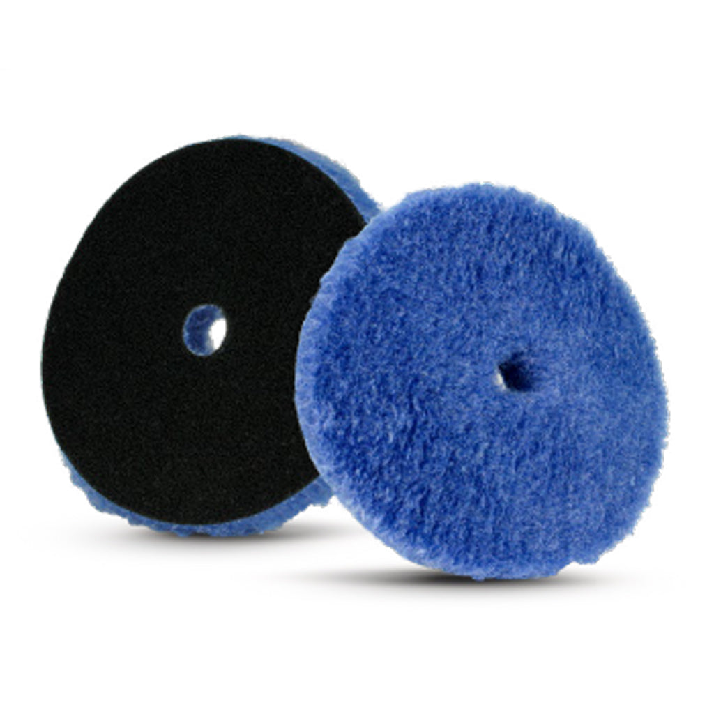 Lake Country Blue Hybrid Knitted Wool Cutting Pad