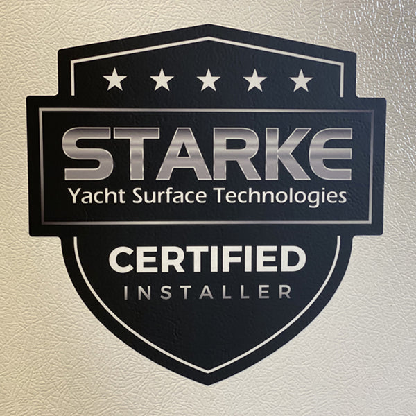 Starke Yacht Care Vinyl Sticker - Certified Installer