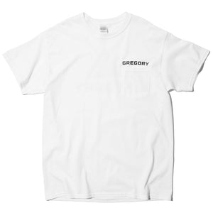GREGORY LOGO POCKET T-SHIRT (WHITE)