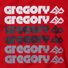 GREGORY TYPOGRAPHY T-SHIRT (RED)