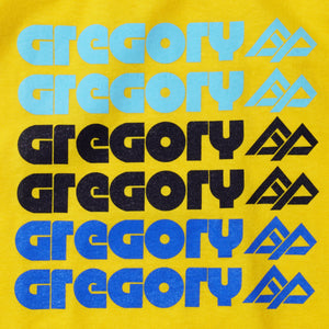 GREGORY TYPOGRAPHY T-SHIRT (YELLOW)