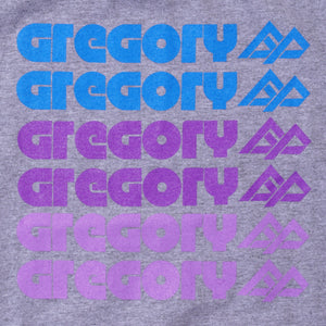 GREGORY TYPOGRAPHY T-SHIRT (GREY)