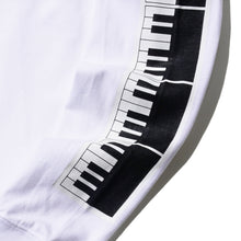 "DARYL STUDIO x T.B.BROTHERS ""KEYBOARD"" L/S T-SHIRT (WHITE)"