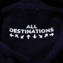 "ALL DESTINATION ""L(W)IFE UNIVERSITY"" HOODIE  (NAVY)"
