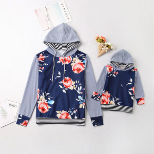 Matching Mother Daughter Floral Hoodies