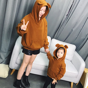 Mother Son Bear Ear Hoodie