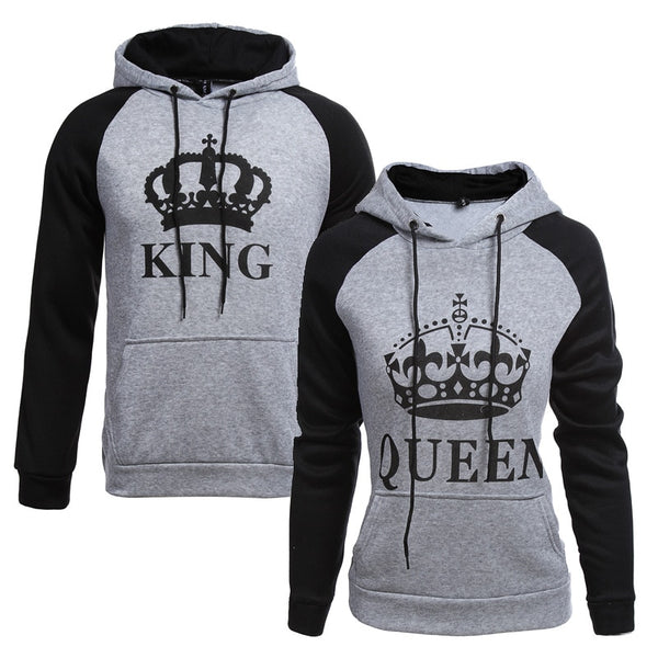 Long Sleeved King & Queen Couples Hoodie