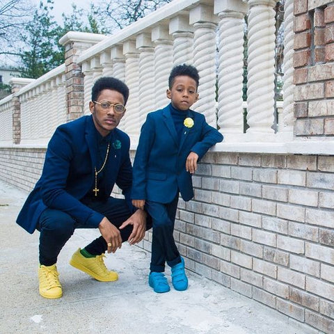 Father And Son Matching Suits 2 Pieces(Jacket+Pant+Tie)