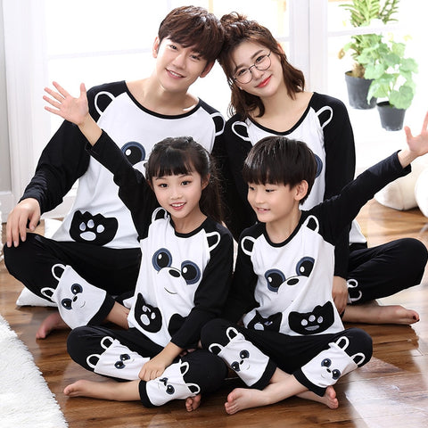 Family cotton Outfit cute panda matching