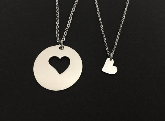 Mother and 1 Daughter necklace SET