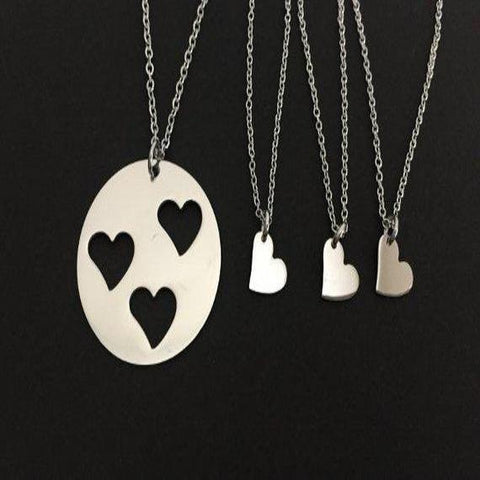 Mother and 3 Daughters Necklace SET