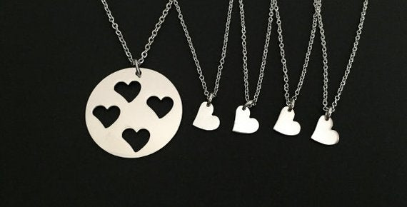 Mother and 4 Daughters Necklace SET