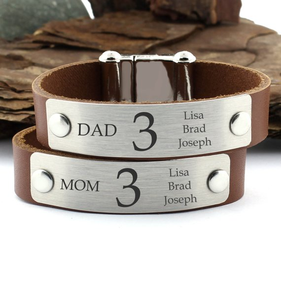 Matching Personalized Bracelet For Couples, Kids, Families, Friends